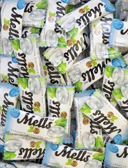 Mells Eucalipto Mentol Sin Azúcar 12 bolsas de 80 g