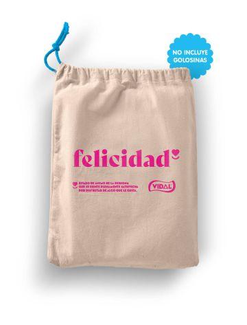 Bolsa Felicidad tela Talla L 40x50